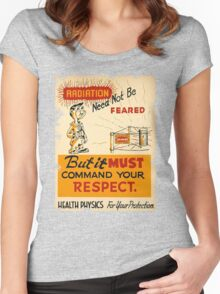 Radiation 1950 poster vintage Women's Fitted Scoop T-Shirt