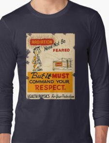 Radiation 1950 poster vintage Long Sleeve T-Shirt