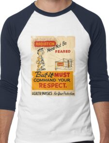 Radiation 1950 poster vintage Men's Baseball ¾ T-Shirt