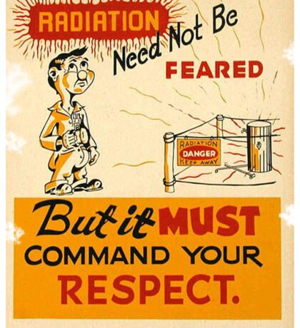 Radiation 1950 poster vintage Sticker