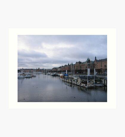 Stockholm harbour Art Print