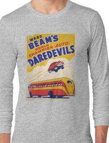 Dare devil Autos 1950 s poster t-shirt vintage Long Sleeve T-Shirt