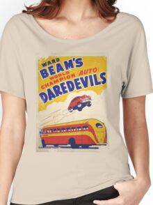 Dare devil Autos 1950 s poster t-shirt vintage Women's Relaxed Fit T-Shirt