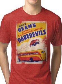 Dare devil Autos 1950 s poster t-shirt vintage Tri-blend T-Shirt
