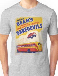 Dare devil Autos 1950 s poster t-shirt vintage Unisex T-Shirt
