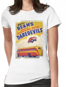 Dare devil Autos 1950 s poster t-shirt vintage Womens Fitted T-Shirt