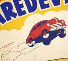 Dare devil Autos 1950 s poster t-shirt vintage Sticker