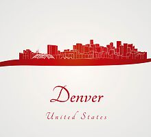 Denver skyline in red by paulrommer