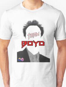 TEAM Boyd Black with red copy Unisex T-Shirt