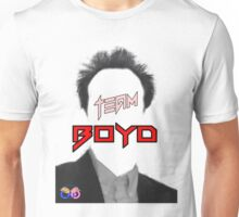 TEAM Boyd Black with red copy Unisex T-Shirt