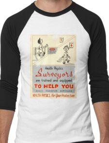 Health Physics 1950's t-shirt vintage  Men's Baseball ¾ T-Shirt