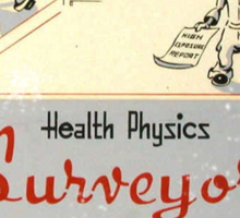 Health Physics 1950's t-shirt vintage  Sticker