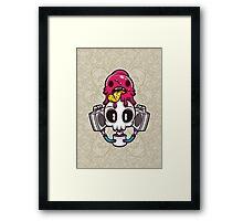 Skull Candy Cartoon Character Framed Print