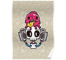 Skull Candy Cartoon Character Poster