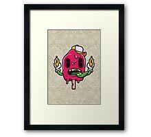 I Scream Cartoon Character Framed Print