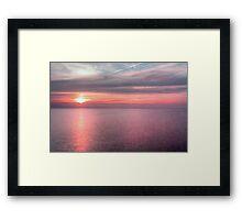 Norfolk summer sunset Framed Print
