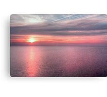Norfolk summer sunset Canvas Print