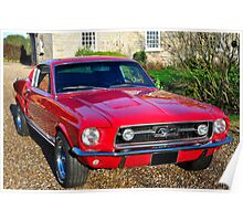 1967 Ford Mustang GT Poster