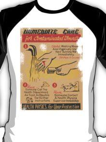 Radiation Warning poster 1950's T-Shirt