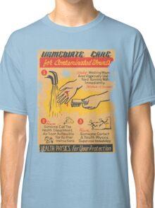 Radiation Warning poster 1950's Classic T-Shirt
