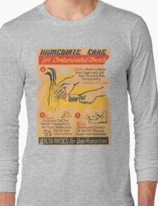 Radiation Warning poster 1950's Long Sleeve T-Shirt