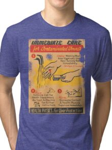 Radiation Warning poster 1950's Tri-blend T-Shirt