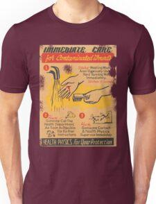 Radiation Warning poster 1950's Unisex T-Shirt