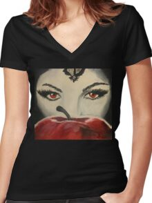 Just One Bite Women's Fitted V-Neck T-Shirt