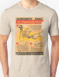 immediate care contaminated 1950's t-shirt T-Shirt