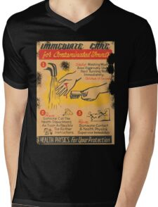 immediate care contaminated 1950's t-shirt Mens V-Neck T-Shirt