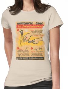 immediate care contaminated 1950's t-shirt Womens Fitted T-Shirt