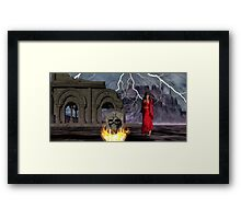 Catphrodite in the Burial Valley of the Red Wind - part 1 Framed Print