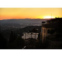 Sunset Over the Hills Photographic Print