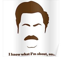 ron swanson i know what I'm about ,son Poster