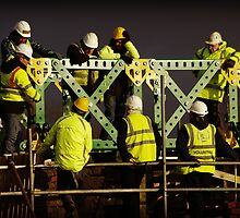 Giant Meccano Bridge by fragglehunter