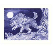 Werewolf pack 1 Art Print