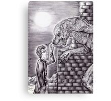 Doctor Who - The Doctor and The Wolf Canvas Print