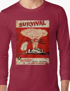 Survival nuclear 1950's Vintage T-shirt Long Sleeve T-Shirt