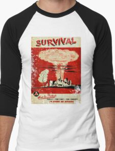 Survival nuclear 1950's Vintage T-shirt Men's Baseball ¾ T-Shirt