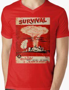 Survival nuclear 1950's Vintage T-shirt Mens V-Neck T-Shirt