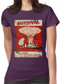Survival nuclear 1950's Vintage T-shirt Womens Fitted T-Shirt