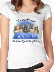 I Have a Dream, NO BSL Women's Fitted Scoop T-Shirt