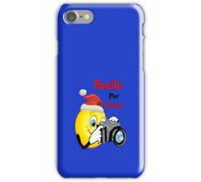 Smile for Santa (iPhone) iPhone Case/Skin