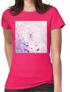 Sketchy Sketch Anemone Womens Fitted T-Shirt