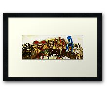 colorful Vicenza Italian mask window display  Framed Print