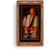 Wills Displays Powerful Stage Presence  ... with a matted and framed look Canvas Print