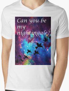 Nightingale Mens V-Neck T-Shirt