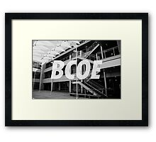 BCOE Bourns College of Engineering Framed Print