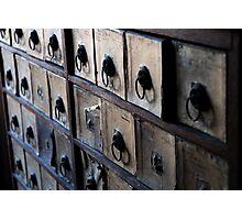 Pill storage, apothecary Photographic Print