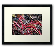 Twins - Bicycle Art By Sharon Cummings Framed Print